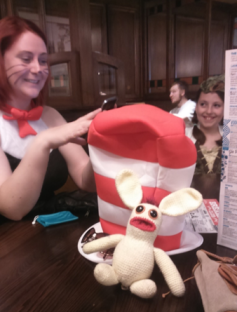 Bananas Bunny has always been a fan of comic books, and the excitement that goes with a Comic Convention, so he took great delight in joining his friends at Preston Comicon the weekend after. He started off the morning with breakfast with The Cat in The Hat.