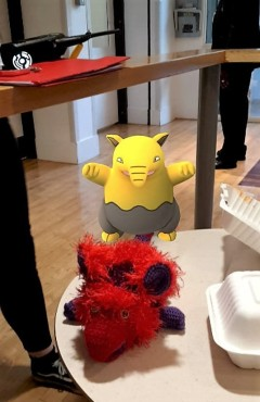 Making friends with Drowzee.