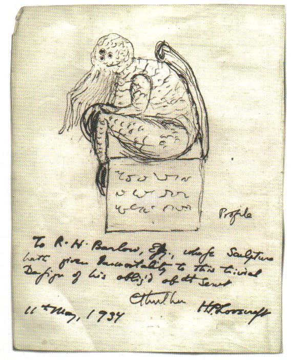 Sketch by H.P. Lovecraft
