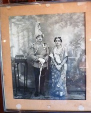 The Maharajah and Maharani of Jaipur taken at Samode Haveli.