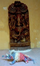 Festival with Ganesha, Lord of Beginnings and Remover of Obstacles. A very appropriate god for travellers!
