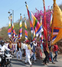A colourful parade.