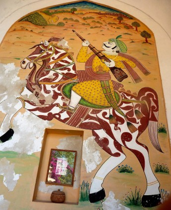 Mural of warrior at Namreena.