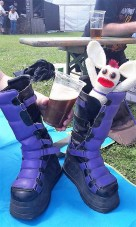 Beer and good stomping boots. What else do you need for a rock festival?