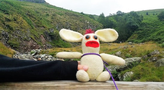 Bunny was very excited about his trip up Helvellyn. Should he survive, he would enter the record books as the first crochet bunny to summit the mountain without carrying a spare pair of underwear.