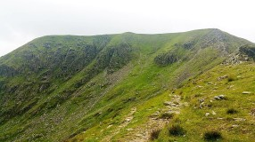 Once the cloud burned away, Helvellyn revealed its stunning east face...