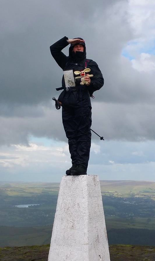BB and his honour guard survey their domain from atop the summit of Pendle Hill.