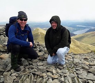 Seb and Stuart on top of the world..