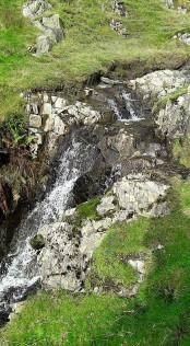 Scenic waterfalls.