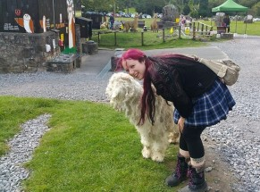 FairyJo found a friendly goat with hair that looked like Seb's.
