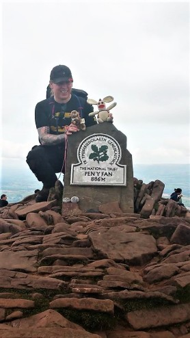Bunny and Marmot Meeko were briefly the highest point in South Wales.